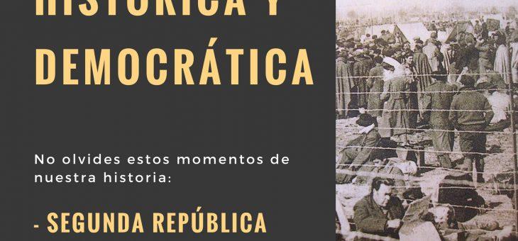 14 JUNIO: DÍA DE LA MEMORIA HISTÓRICA Y DEMOCRÁTICA