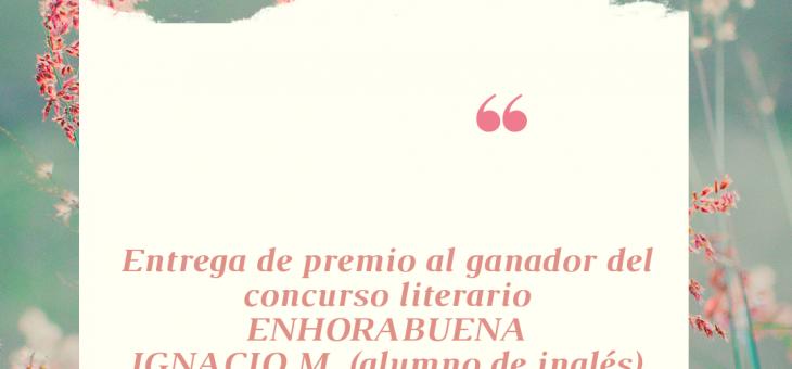 Entrega de premio – concurso literario
